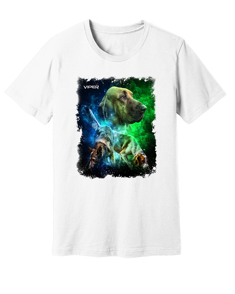 Tracking Dogs - Blue & Green - Shirt - Design 41