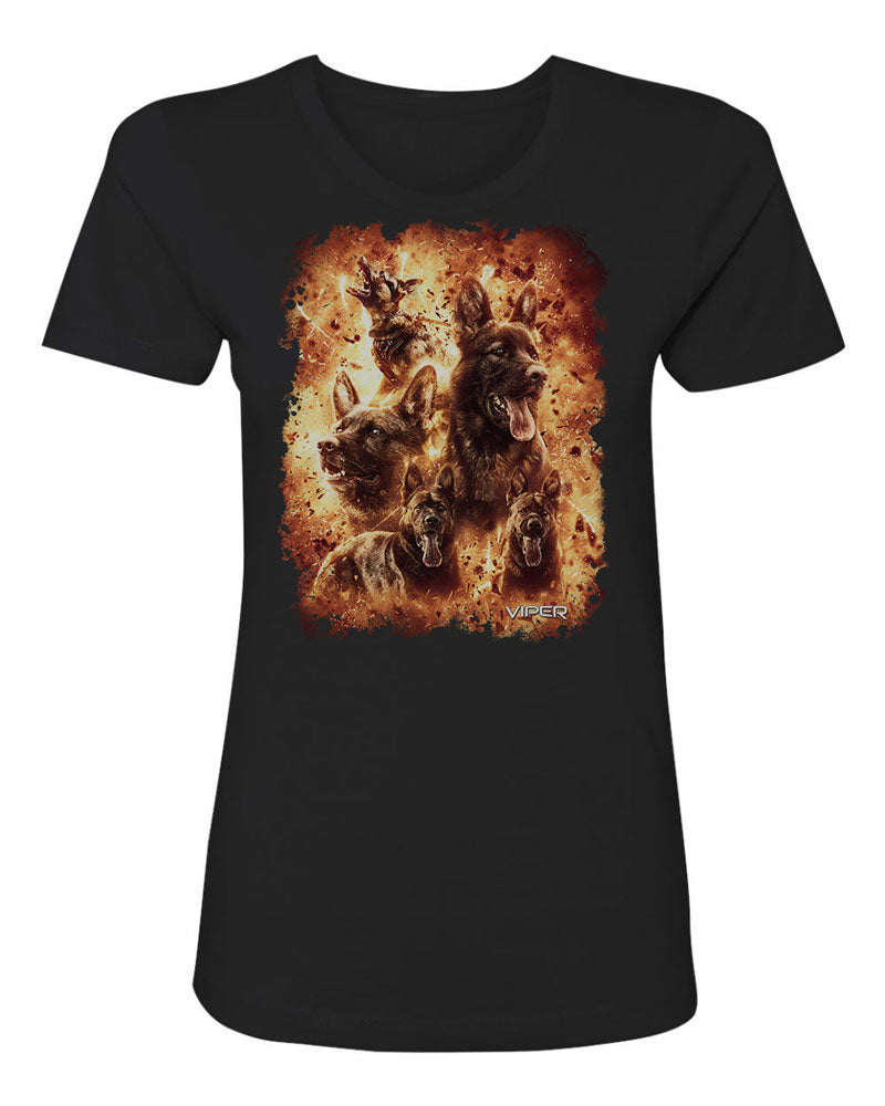German Shepherd - Inferno - Shirt - Design 4