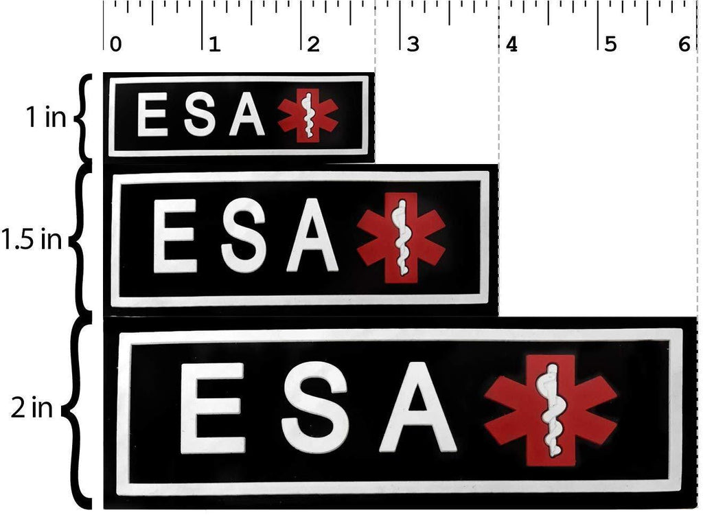 Dogline ESA Dog 3D Rubber Patches