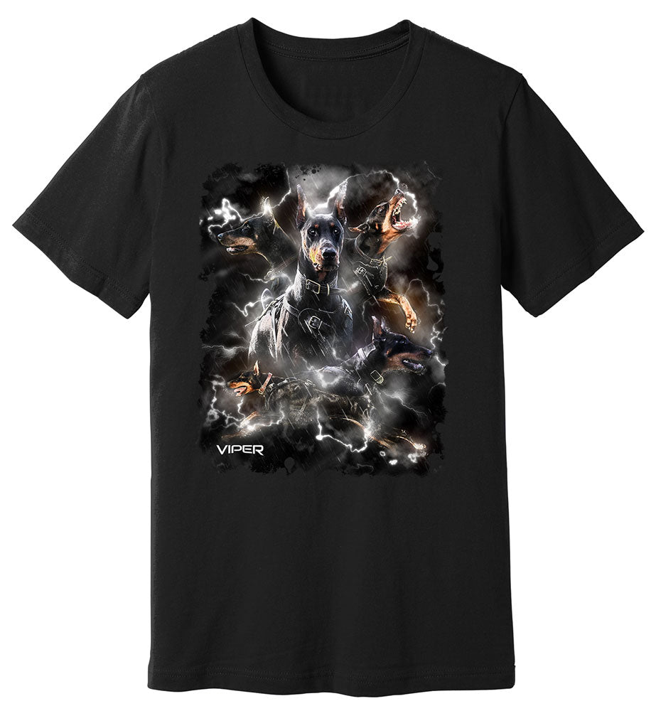 Doberman - Lightning - Shirt - Design 7