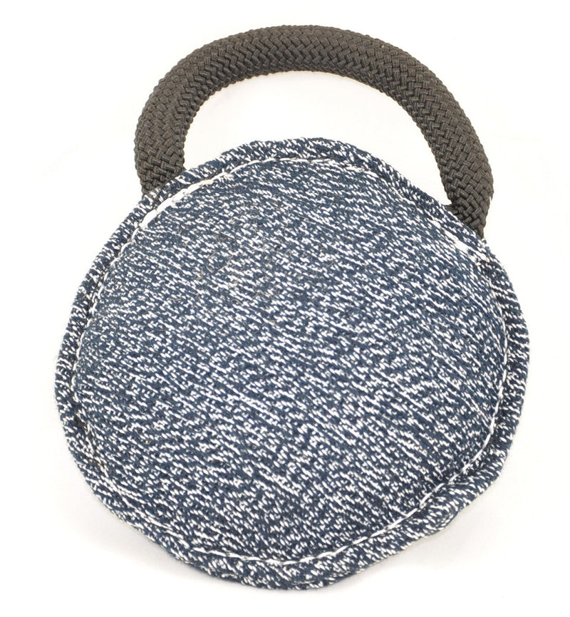 Viper Round French Linen Bite Pillow