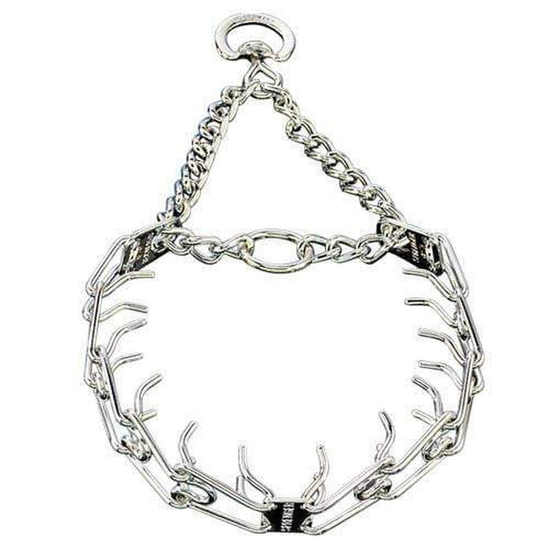 Herm Sprenger - ULTRA-PLUS Training Collar with Center-Plate and Assembly Chain - Comfort Version - Chrome