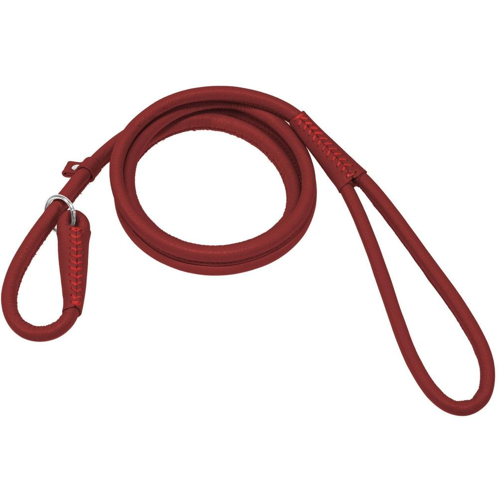Dogline Soft Leather Round Slip Lead