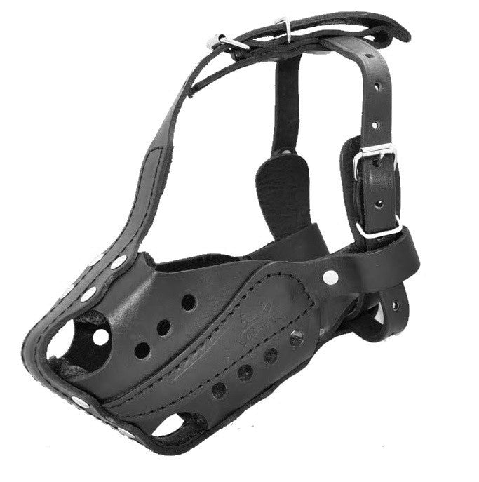 Viper Bravo Leather Agitation Muzzle with Quick Release Buckle