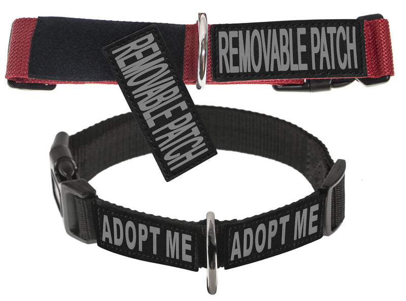 Dogline Omega Nylon Collar with Space for Removable Patches