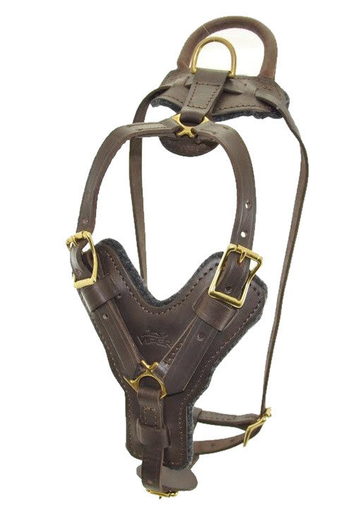 Viper Typhoon Leather Working Dog Harness