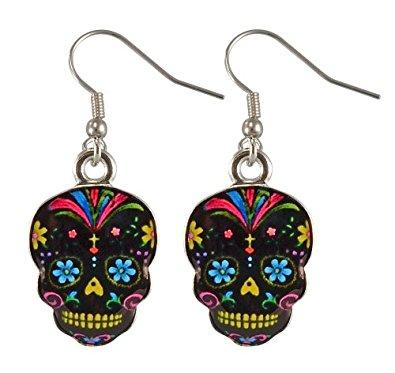 Day Of The Dead Sugar Skull Earrings