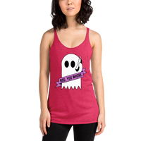 "pound coach ""boo, you whore."" Triblend Racerback Tank"