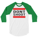 "alan evergeen ""dont shoot"" 3/4 sleeve raglan shirt"