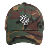 "alan evergreen ""checkered skull bnw"" dad hat"