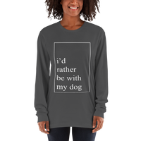 "alan evergreen ""id rather be with my dog"" long sleeve t-shirt"