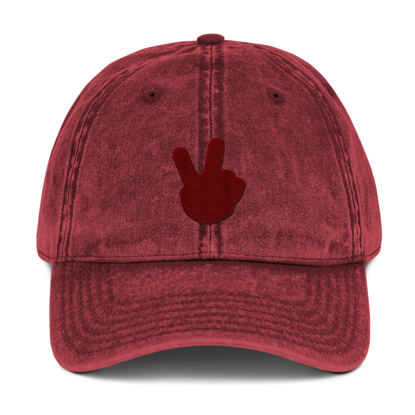 "alan evergreen ""victory hand maroon"" dad hat"
