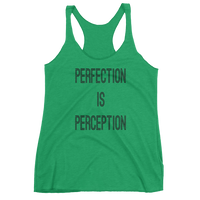 "Imperialtop ""Perfection Is Perception"" Women's Racerback Tank"