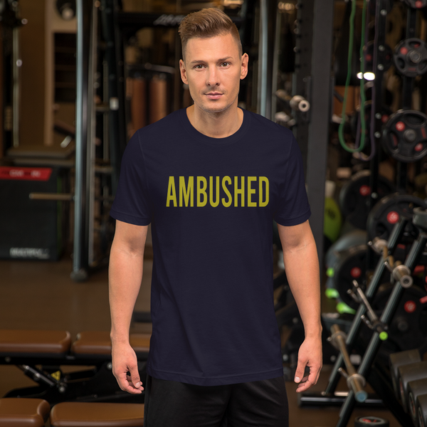 "Alan Evergreen ""Ambushed"" Short Sleeve Jersey T-Shirt with Tear Away Label"