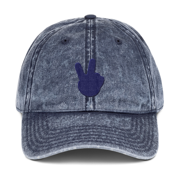 "alan evergreen ""victory hand navy"" dad hat"