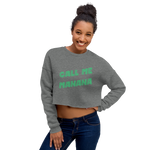 "alan evergreen ""call me manana"" crop sweatshirt"