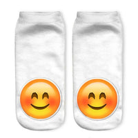 3D Emoji Print Ankle Low-Cut Socks