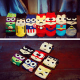 3D Cartoon Superhero Socks