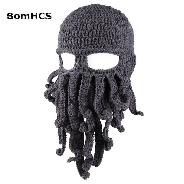 cbfb762e865ac Tentacle Octopus Cthulhu Knit Beanie Hat Cap Wind Mask – Evergreen ...