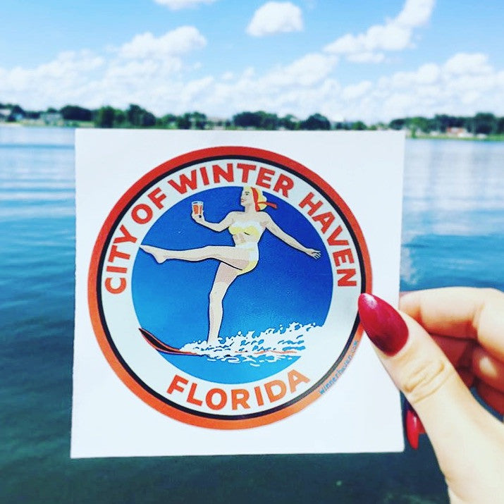 Winter Haven Small Sticker