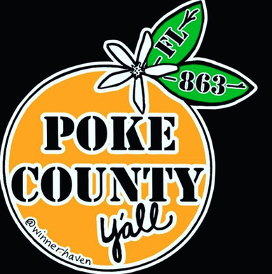POKE COUNTY STICKER