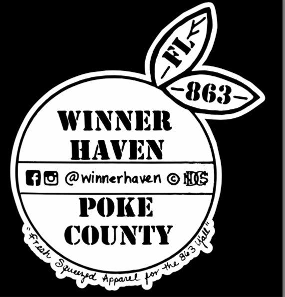 WINNER HAVEN/POKE COUNTY STICKER