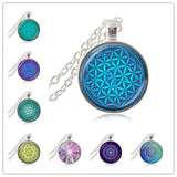 Flower of Life Sacred Geometry Necklace