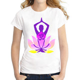 Yoga Lotus Short Sleeve Women T-shirt