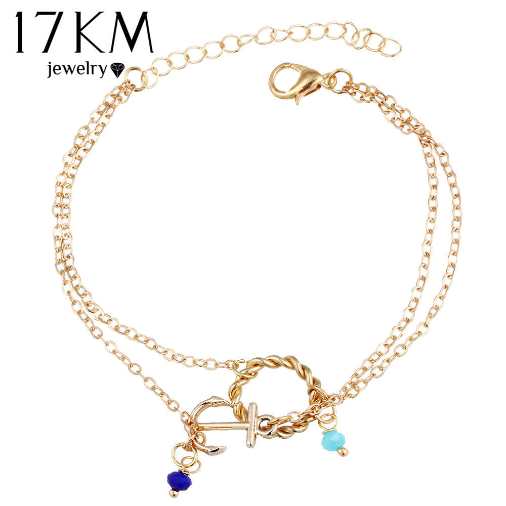 silver style simple jewelry big foot bracelet trendy store product summer ankle anklets ankles sexy for plated gold chain women girl gift anklet leaf
