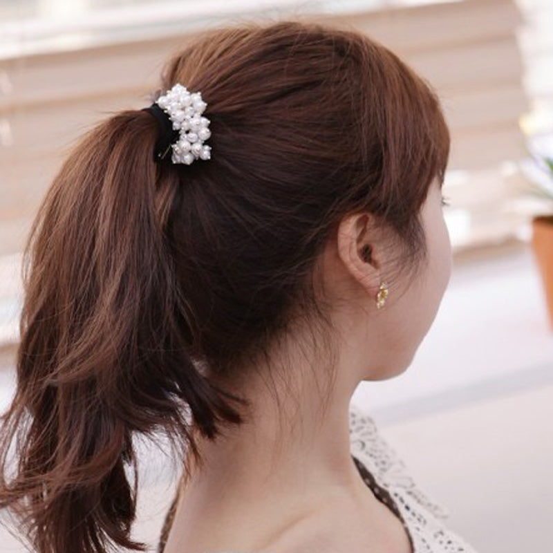 1pcs Hair Accessories Pearl Elastic Rubber Bands Ring Headwear Girl