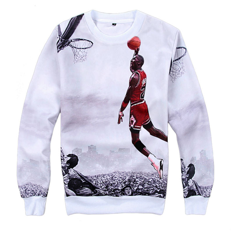 3d Printed Hoodies Men Sweatshirts Long Sleeve Jordan Sweatshirts