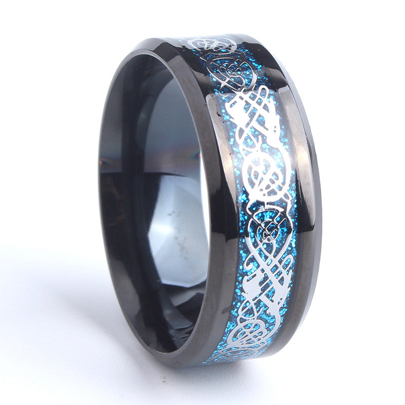 products band black titanium wedding ring plated set stainless rings steel bridal