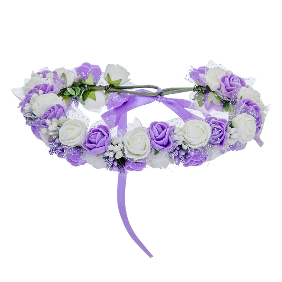 Brand New Wreath Flower Crown Women Kids Head Wreath Wedding Bridal