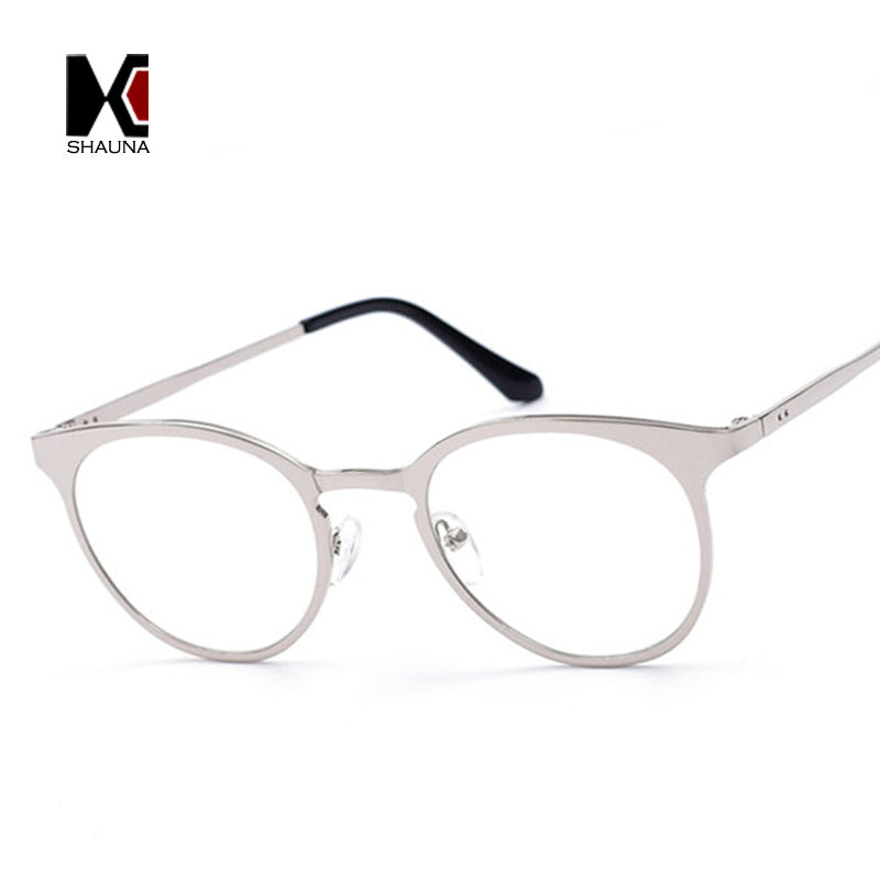 Classic Women Metal Glasses Frame Retro Men Round Clear Lens Eyewear ...