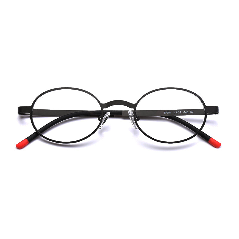 ENGEYA Super Light Round Metal Frame Glasses Men Women Retro Optical ...