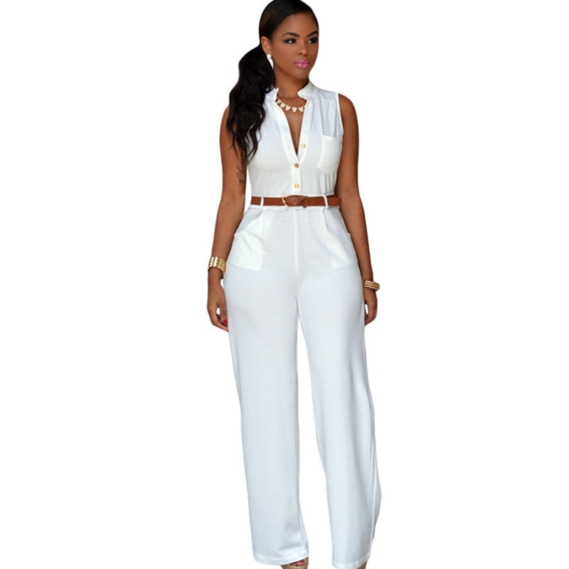 Elegant Fashion Sexy Jumpsuits Ladies Loose Slim Casual Party
