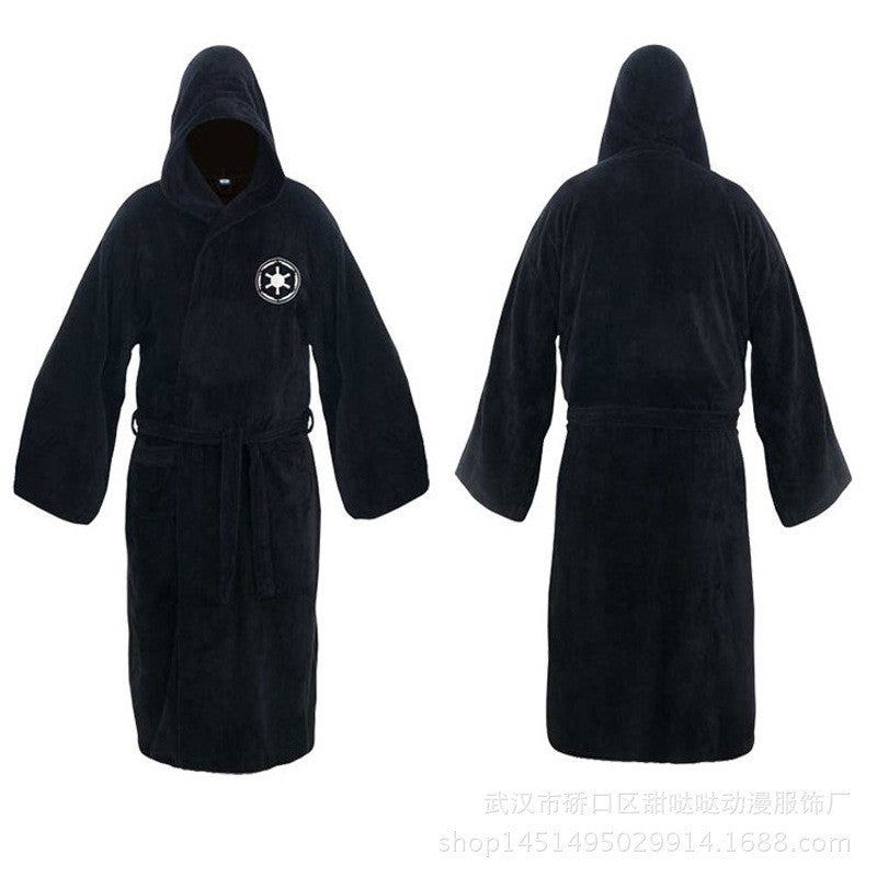 Flannel Robe Male With Hooded Star Wars Jedi Knight Rob Dressing ...