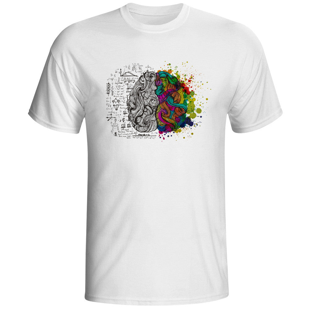 Left And Right Brain T Shirt Design Inspired By Geek T-shirt Style ...