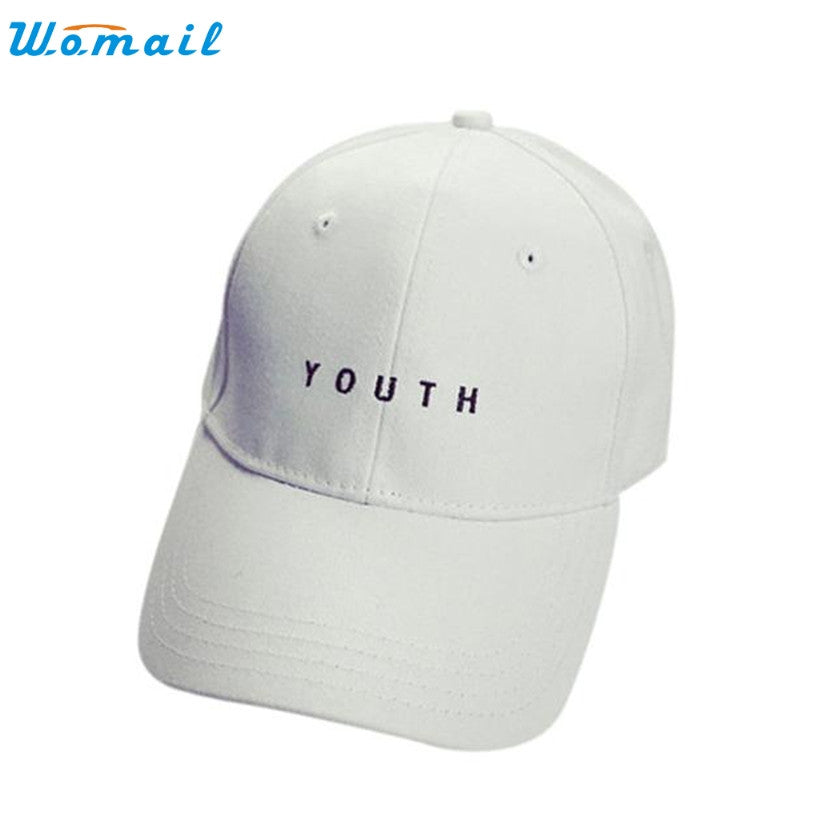 Men Cotton Baseball Cap WOMAIL Delicate Hot! youth letter Embroidery Boys  Girls Snapback Hip Hop 20a6491566ac