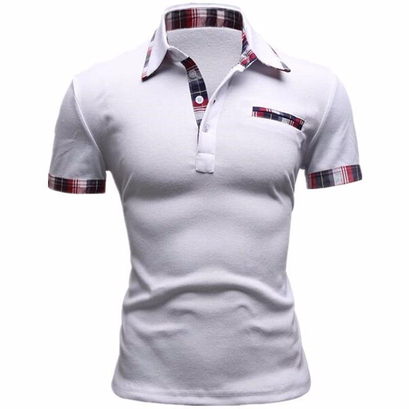 New 2017 Classic Summer Style Short Sleeve Polo Homme Casual Mens Solid Polo  Shirt Brands Logo c522faecc480