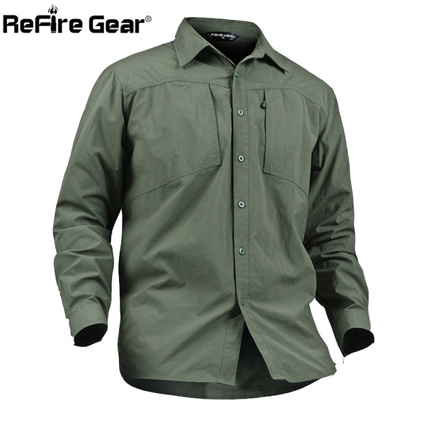 5ba318247f9f New Quick Dry Military Style Tactical Shirt Men Teflon Nylon Breathable  Male Casual Clothing Long Sleeve