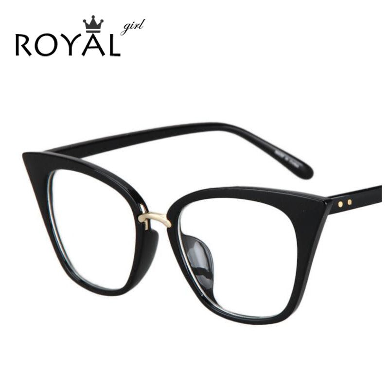 ROYAL GIRL Cat Eye Women Eyeglasses frames Brand Designer Glasses ...