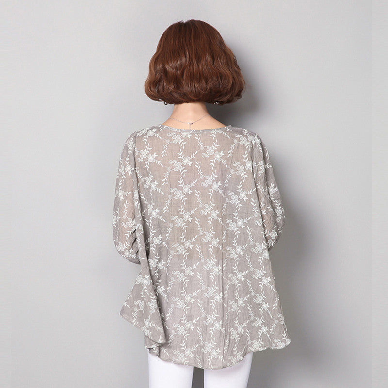 Summer Women Blouses And Tops 2017 Loose Linen Cotton Blouse Tunic
