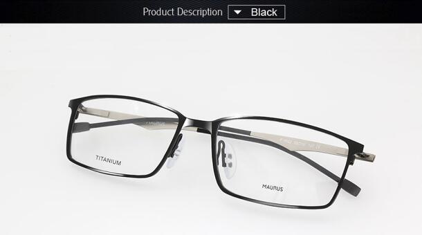 Super Lighter Eyeglasses Titanium Glasses Frame For Men Suit ...