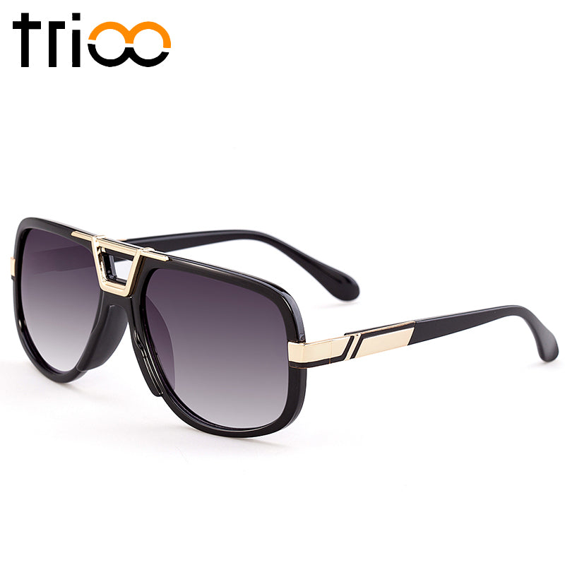 TRIOO Square Designer Eyewear Accessories Black Frame Clear Lens ...