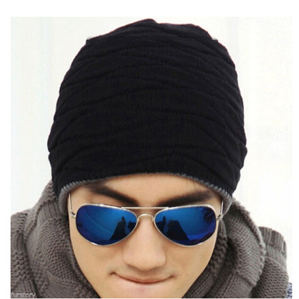 ced1410af3971 Unisex Beanie Winter Hats Cap Men Women Stocking Hat Beanies stripe Knitted  Hiphop Hat male Female