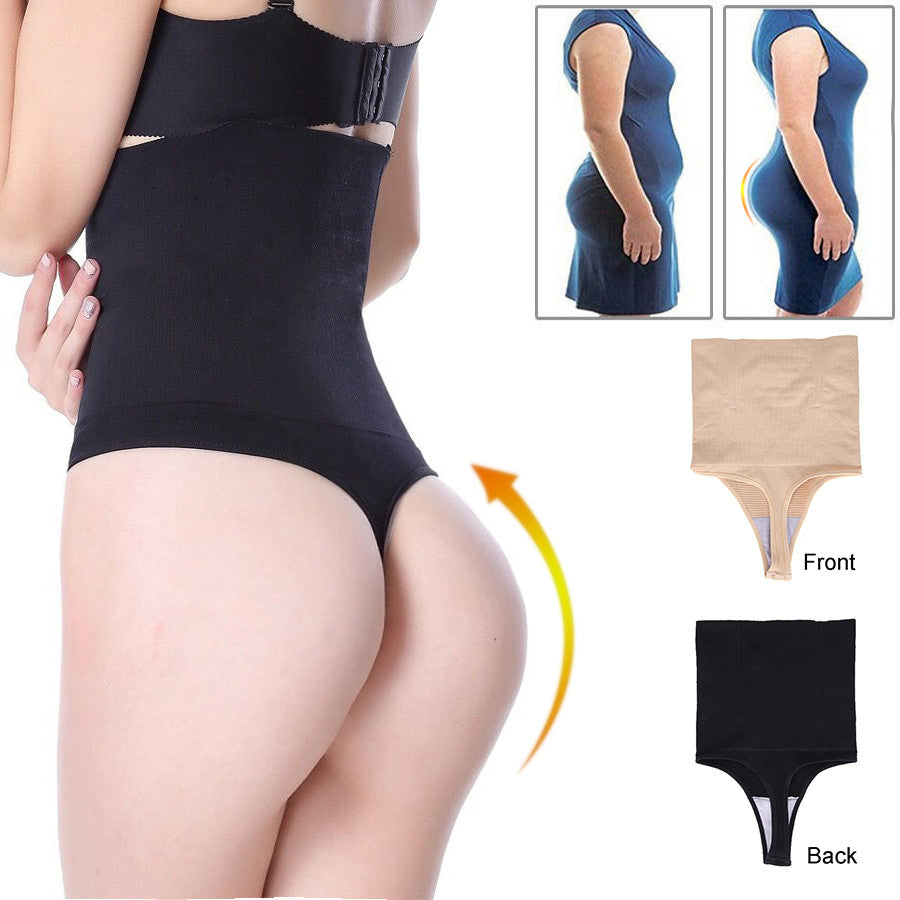 Waist Cincher Thong Girdle Black Beige Butt Lifte Tummy Slimmer Sexy Thong Panty Shapewear Control Shaper