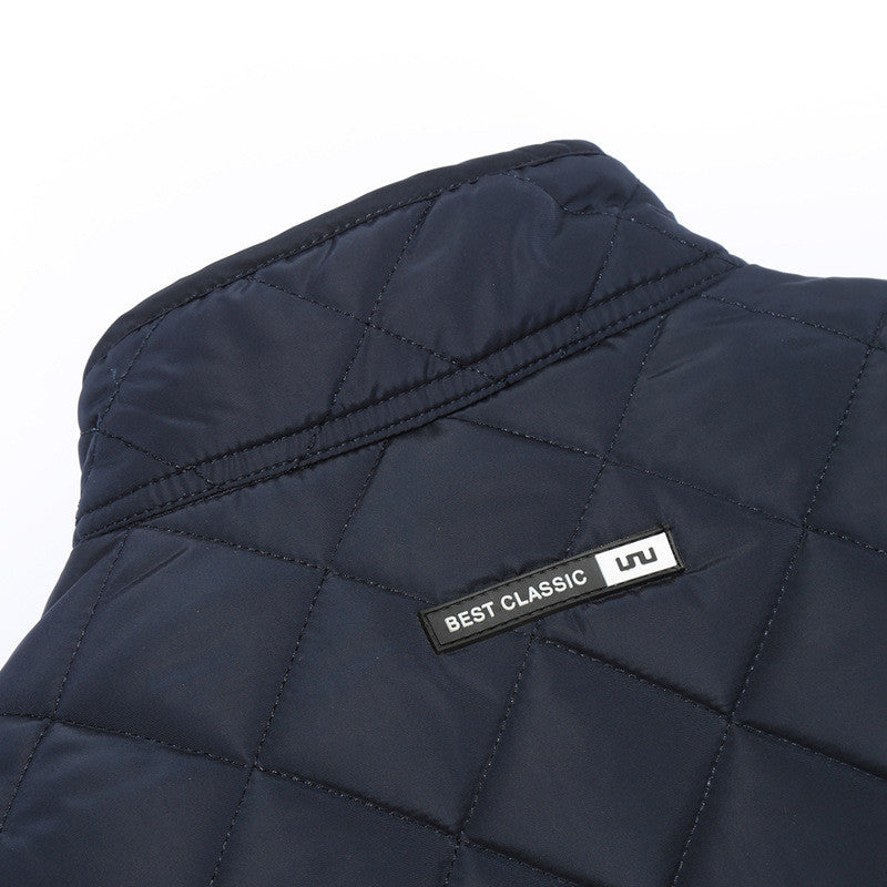 Winter Jacket Men 2017 New Autumn Mens Casual Cotton Quilted