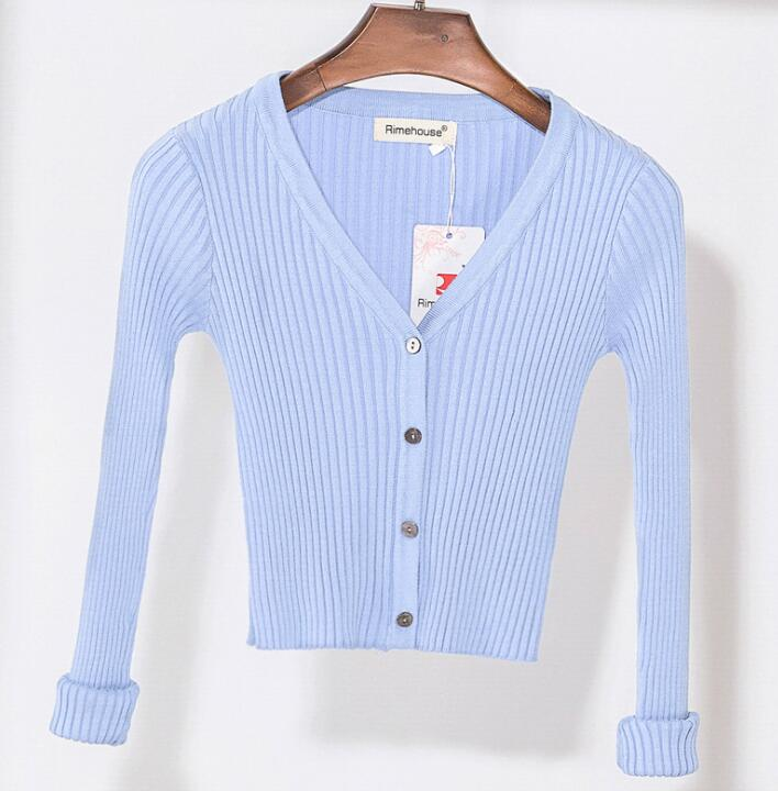 Women Slim V Neck Knitted Cardigan Long Sleeve Cropped Cardigan Sweaters  Ladies Solid Shrugs for Women Short Cardigans Candy , Women\u0027s Cardigans