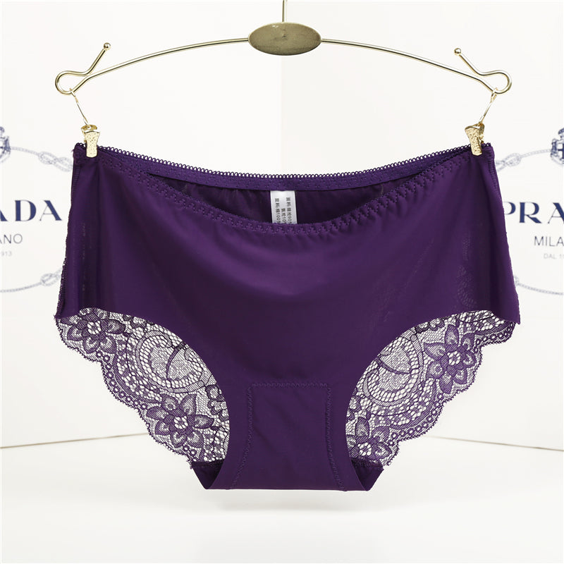 564f4000b66b Women's Sexy Lace Panties Seamless Cotton Breathable Panty Hollow Briefs  Female Underwear Mid-Rise 13